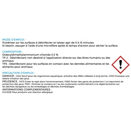 Désinfectant virucide 10 litres